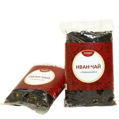"Ivan-tea ""RUSICH"", leaf with hawthorn, 100 grams"