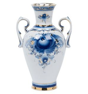 Vase Lydia gold author's work, Gzhel Porcelain factory
