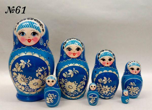 """Vyatka souvenir / Inlaid matryoshka 7 ave. """"Golubka"""""""