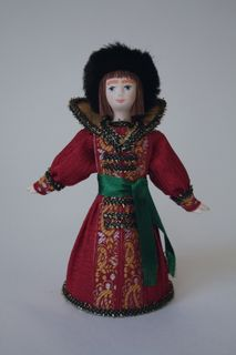 Doll gift porcelain. Ivan Tsarevich. Fairy tale character.