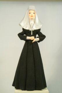 Doll gift. The Catholic nun.