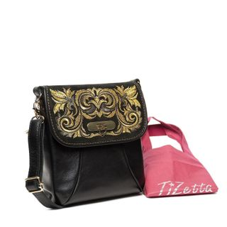 "Leather bag ""Isabelle"" black"