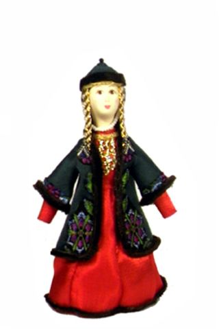 Doll gift. Tatar vintage womens suit ser. 19th century.