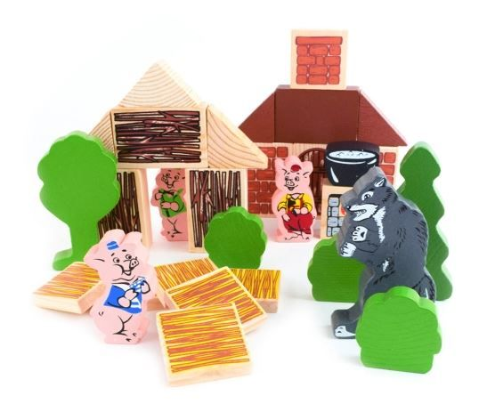 "Tomik / Constructor ""Fairy Tales - Three Little Pigs"""