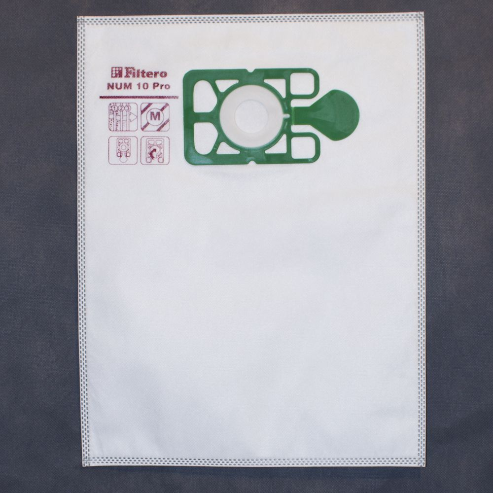 Dust collectors 10л / 310х405мм / 5шт / 3-layers / synthetic _Filtero NUM10Pro