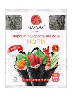 Nori (seaweed for sushi) MAYUMI, 10 leaves, 28g