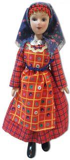 "Porcelain doll ""Buranovskie outfit"""