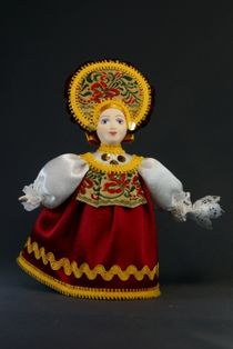 Doll gift porcelain. Dancer. Girl in a folk costume. Russia.