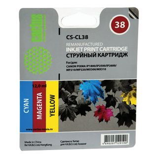 Inkjet cartridge CACTUS (CS-CL38) for CANON PIXMA iP1800 / 1900/2500 / MP140 / 190, color, yield 205 pages.