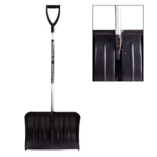 Snow shovel BERCHOUSE, plastic, 54x37 cm, height 130 cm, with aluminum handle and tip