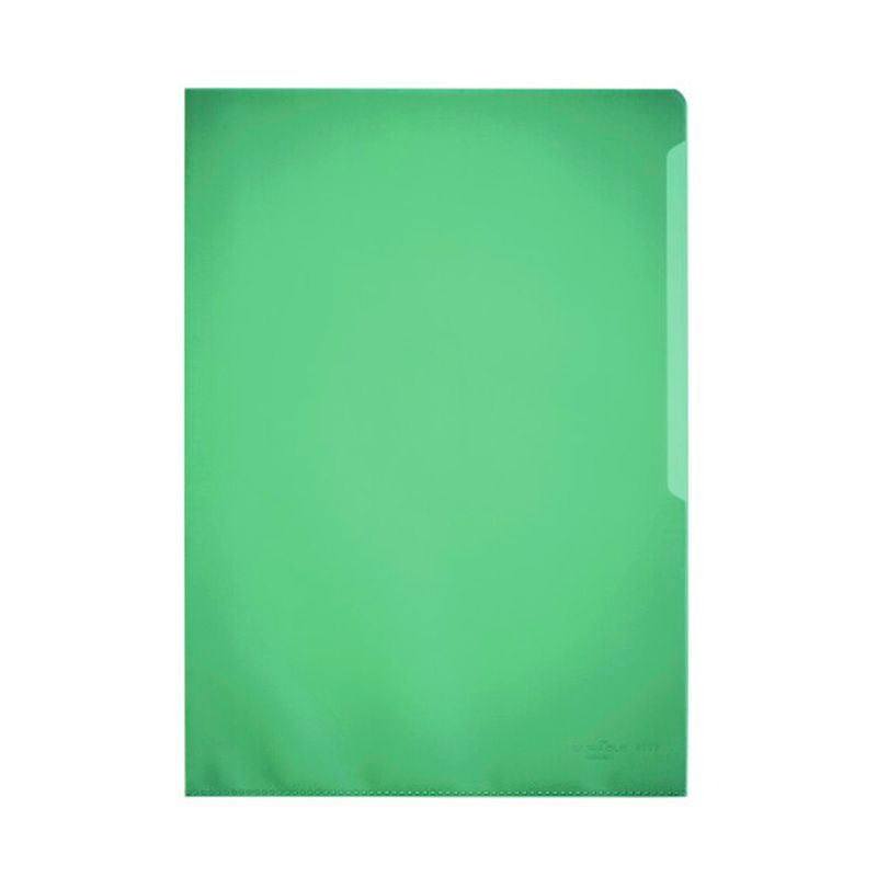 Durable / Folder-folder for documents, 100 microns, A4, matte, polypropylene Green