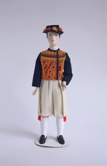 Doll gift. The male costume of the 20th century. Brittany. French.