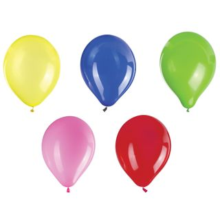 """GOLDEN FAIRY TALE / Balloons 10 """"(25 cm), SET of 10 pieces, assorted 5 colors, package"""