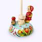 Bogorodskaya toy / Wooden souvenir 'Masha and the hedgehog' - view 1