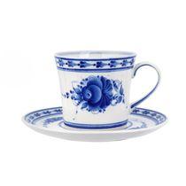 Saucer set Natalia author's work, Gzhel Porcelain factory