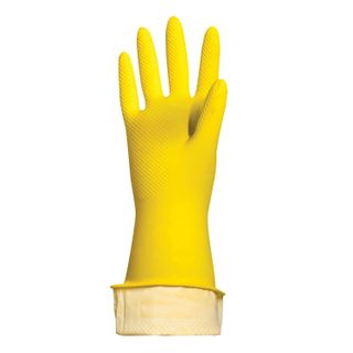 """LIMA / Latex household gloves """"Premium"""" REUSABLE, cotton dusting, super thick, S (small)"""
