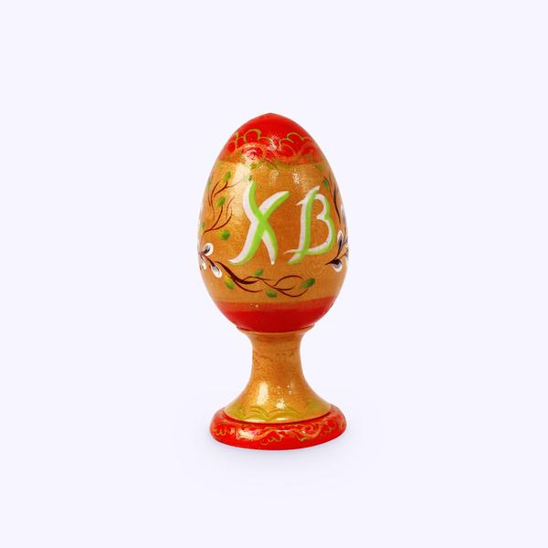 Bogorodskaya toy / Wooden souvenir 'Egg on a stand', turning