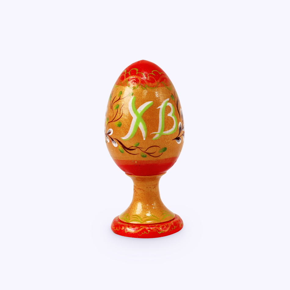 "Bogorodskaya toy / Wooden souvenir ""Egg on a stand"", turning"