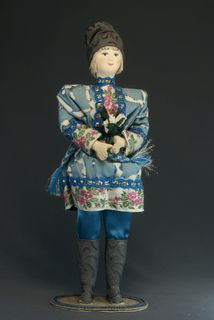 Doll gift porcelain. April. Fairy tale character.
