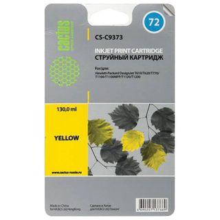 Inkjet Cartridge CACTUS (CS-C9373) for HP DesignJet T610 / 795, Yellow 130 ml