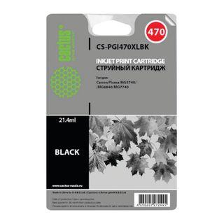 Inkjet cartridge CACTUS (CS-PGI470XLBK) for CANON PIXMA MG5740 / 6840/7740, black pigme, resource 500 pages.