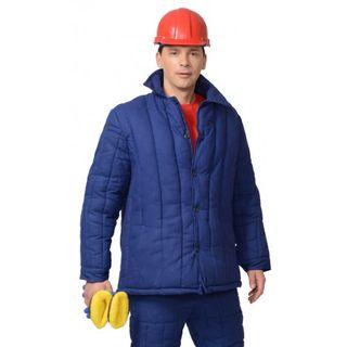 Jacket warmed male dark blue