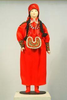 Doll gift. Khakassia. Women's costume.