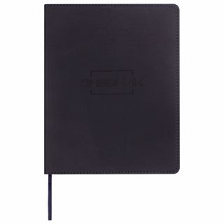 Diary 1-11 class 48 sheets, cover leather (light), thermosing, BRAUBERG LATTE, black