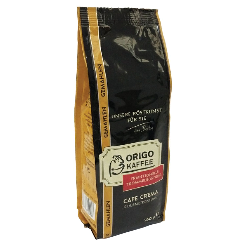 "ORIGO / Ground coffee ""Cafe Crema"", vacuum package 250 g"