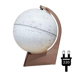 Outline globe with a diameter of 210 mm on a triangular stand with backlight