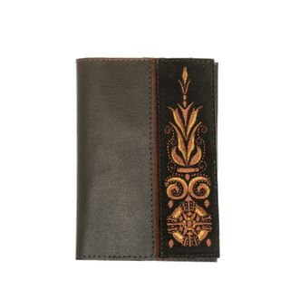Handmade leather passport cover