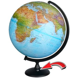 Globe physical diameter 420 mm with backlight battery powered (batteries not included)