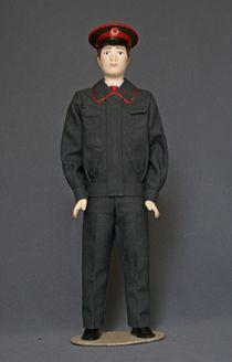 Doll gift. Railroad
