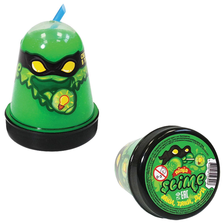 "Slim (lisun) ""Slime Ninja"", glows in the dark, green, 130 g, WORLD"