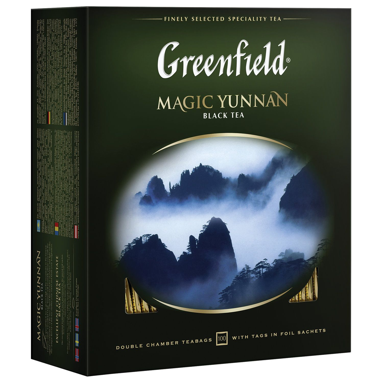 "GREENFIELD / Tea ""Magic Yunnan"" black, 100 sachets in envelopes of 2 g"