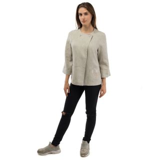 "Jacket women's ""Grisaille"" gray with silk embroidery"