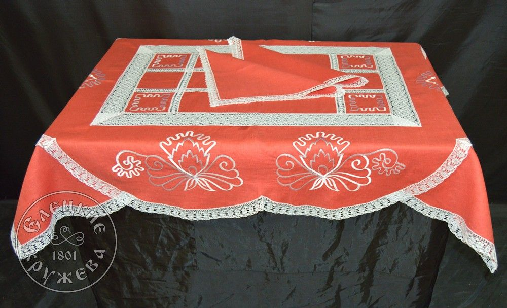 "Yelets lace / Table set ""Tablecloth and napkins"" С542"