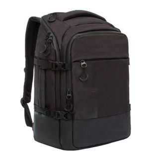 GRIZZLY business backpack, 2 compartments, laptop pocket, black, 45x32x21 cm