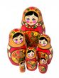 Khokhloma matryoshka 6 dolls - view 1