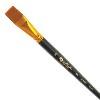 Art brush ROUBLOFF (Rublev), synthetic, hard, flat, No. 22, long handle