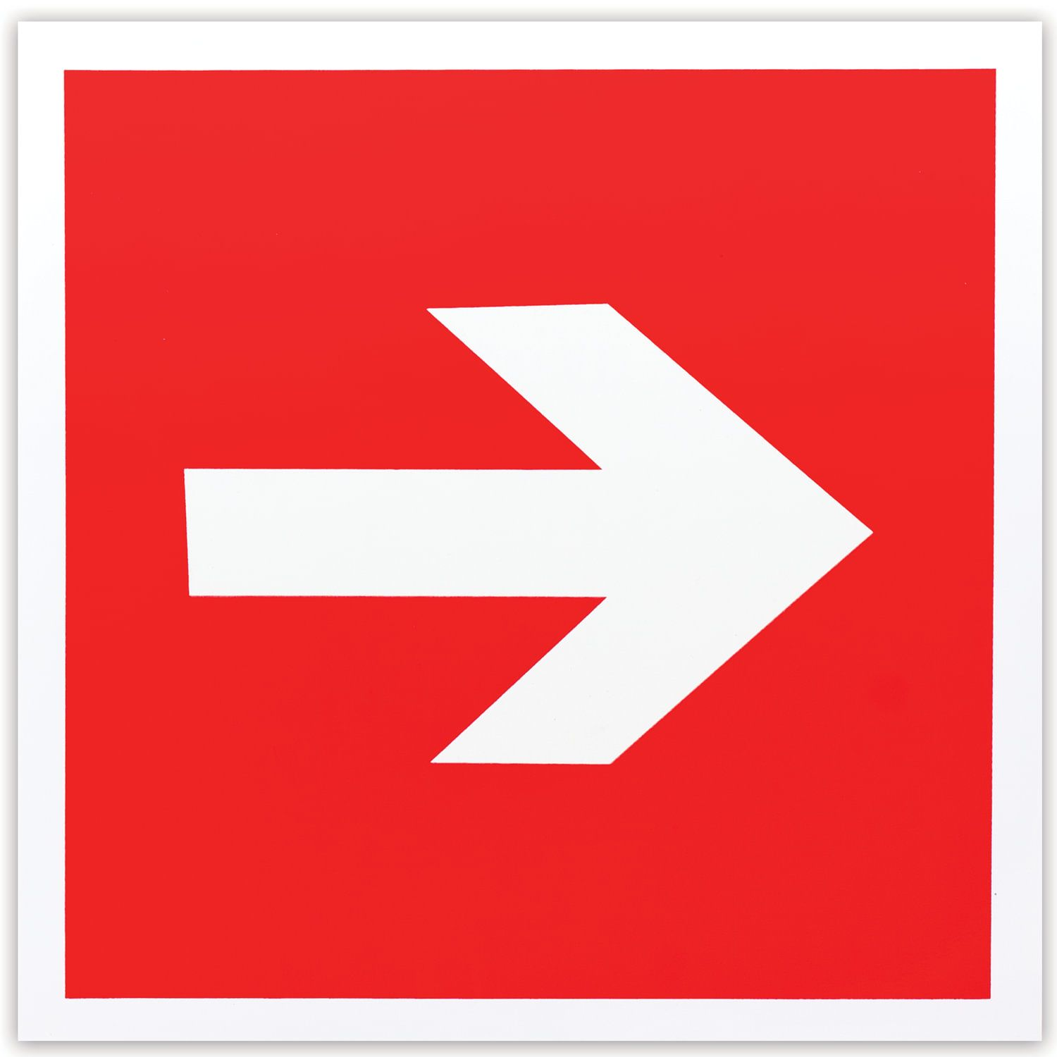 """Fire safety sign """"Directional arrow"""", 200x200 mm, self-adhesive, photoluminescent"""