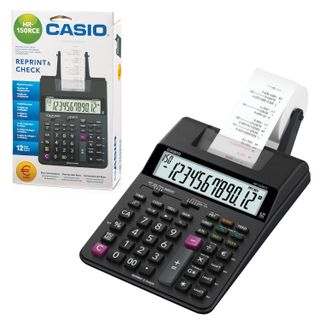 CASIO HR-150RCE-WA printing calculator (295х165х65 mm), 12 digits, 4хАА batteries / adapter (250402)