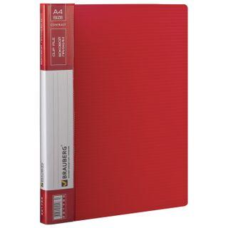 Folder with side metal press and inner pocket BRAUBERG