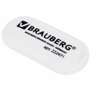 Eraser BRAUBERG, 55х23х10 mm, white, oval, thermoplastic rubber