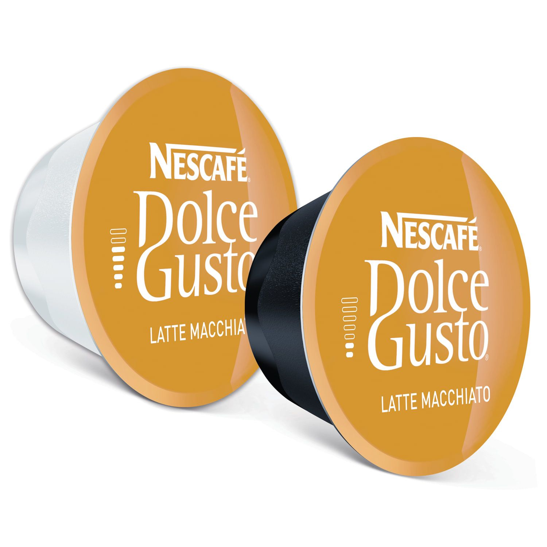 NESCAFE / Capsules for Dolce Gusto Latte Macchiato coffee machines, natural coffee 8 pcs. x 6.5 g, milk capsule 8 pcs. x 17.8 g