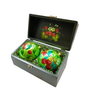Set of 2 christmas balls casket