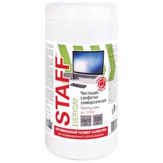 STAFF / Wipes for all types of screens and plastic, universal