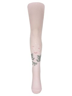 """Tights with a pattern """"Leverets"""" pink"""