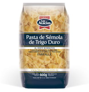 Dried pasta from durum wheat