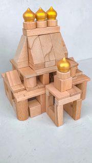 """Wooden designer """"Beech house"""", 82 details"""